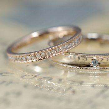 〔結婚指輪〕ハーフエタニティーとミルとあれとこれと