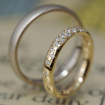 〔結婚指輪〕パヴェが眩しい!