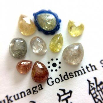 ローズカットのカラーダイヤ