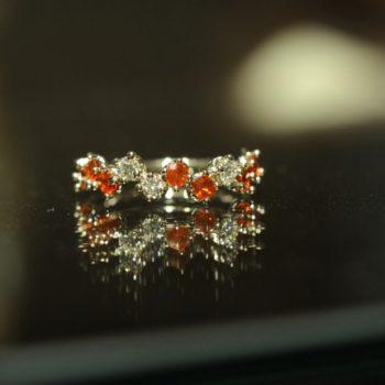ファイアオパールとダイヤモンド