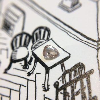 ブラウニッシュピンク系ダイヤモンド
