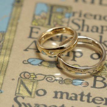 鏡面仕上げのシンプル結婚指輪