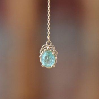 パライバトルマリンとコニャックカラーのダイヤモンド
