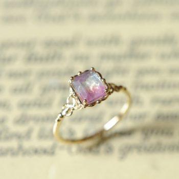バイカラートルマリンの指輪