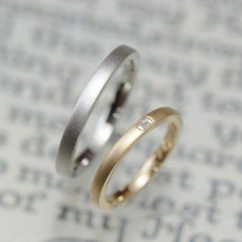 結婚指輪 バケットカット