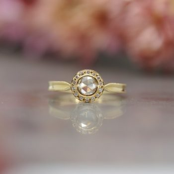 Halo rosecut ring