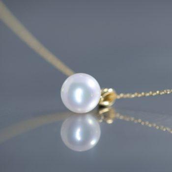 あこや真珠の一粒ペンダント
