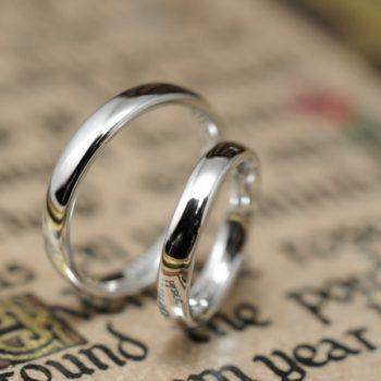 結婚指輪 この上なくシンプルなプラチナリング