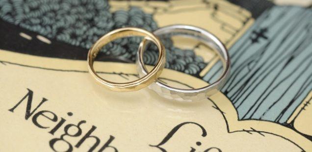 福永宝飾店の鎚目結婚指輪