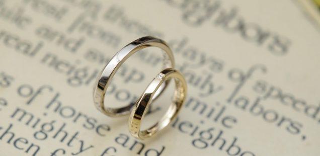 ウェーブ結婚指輪
