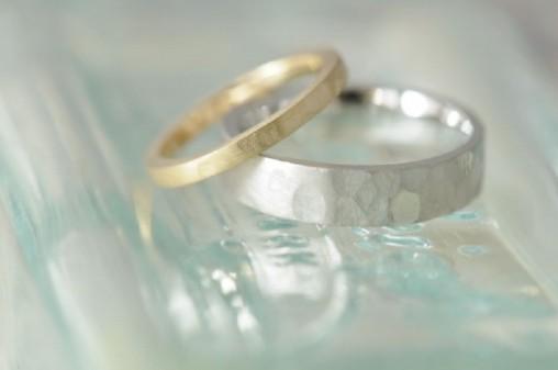 平鎚目のオーダーメイド結婚指輪
