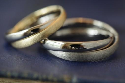 コンビ二連タイプのオーダーメイド結婚指輪