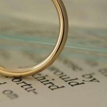ゴールドにサンドブラスト加工のオーダーメイド結婚指輪