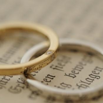 クラシックで細身のオーダーメイド結婚指輪