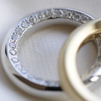 ボリュームタイプフルエタニティーのオーダーメイド結婚指輪