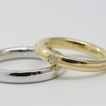 プラチナ ゴールド 結婚指輪