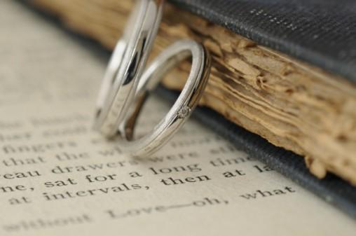 ライン入りプラチナのオーダーメイド結婚指輪