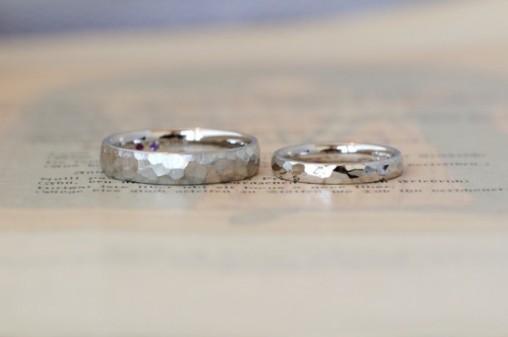 鎚目のオーダーメイド結婚指輪