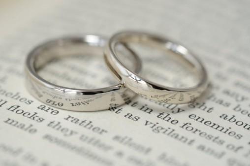 甲丸鏡面仕上げのオーダーメイド結婚指輪