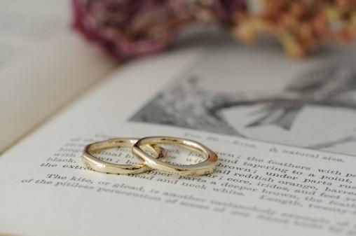 ラフカットのオーダーメイド結婚指輪