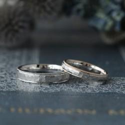 コンビの鎚目とミルグレインのオーダーメイド結婚指輪