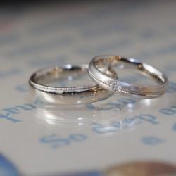 クラシカルタイプシャンパンゴールドの結婚指輪