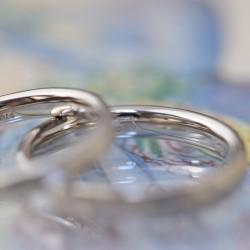 シャンパンゴールド槌目の結婚指輪