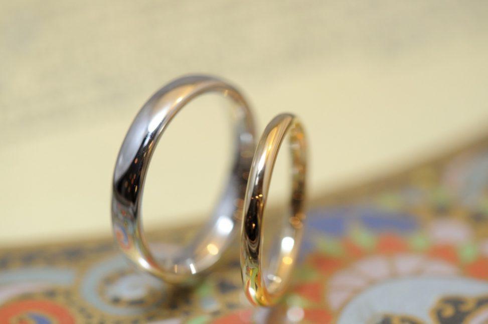 ゴールドとプラチナの結婚指輪