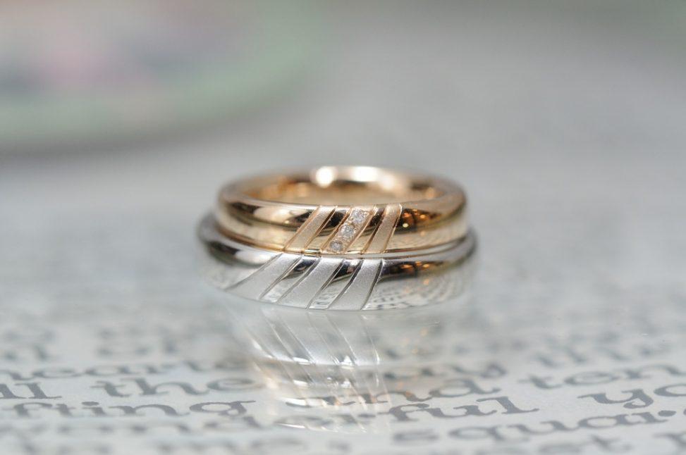 ローズゴールドプラチナの結婚指輪