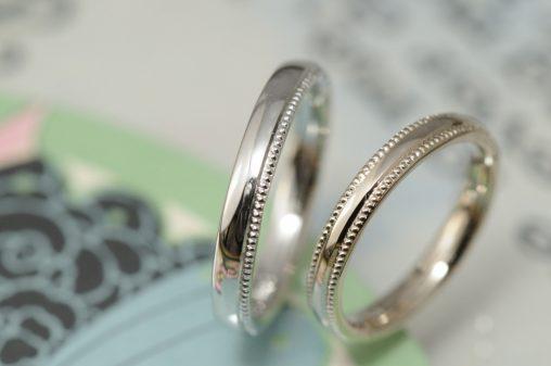 プラチナシャンパンミルの結婚指輪