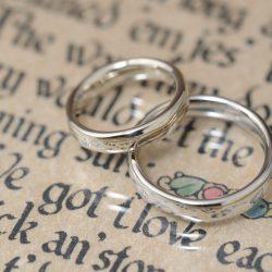 ラフデザインの結婚指輪