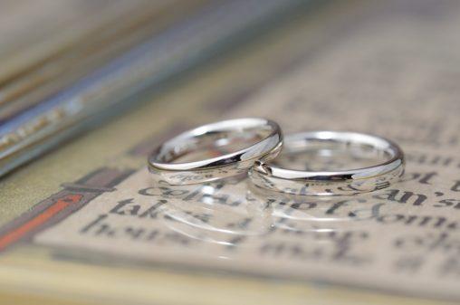 シンプル甲丸鏡面仕上げの結婚指輪