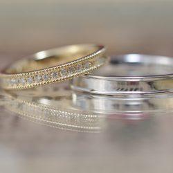 ハーフエタニティとミルのオーダーメイド結婚指輪
