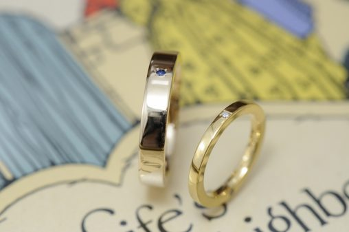 リメイクの純金平打ちタイプのオーダーメイド結婚指輪