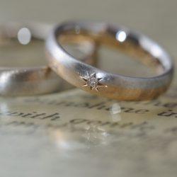 コンビと後光留のオーダーメイド結婚指輪