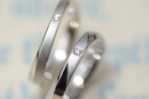 スッキリウェーブのオーダーメイド結婚指輪