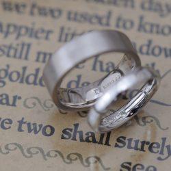 幅広平打ちのオーダーメイド結婚指輪