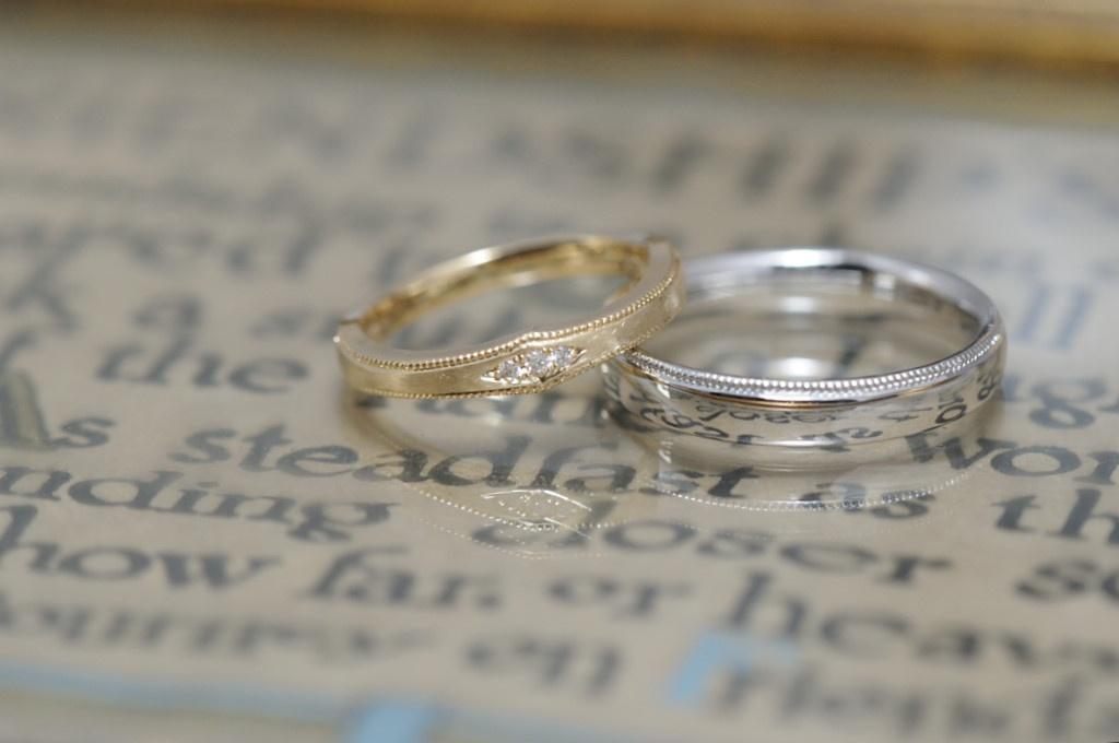 クラシカルデザインのオーダーメイド結婚指輪
