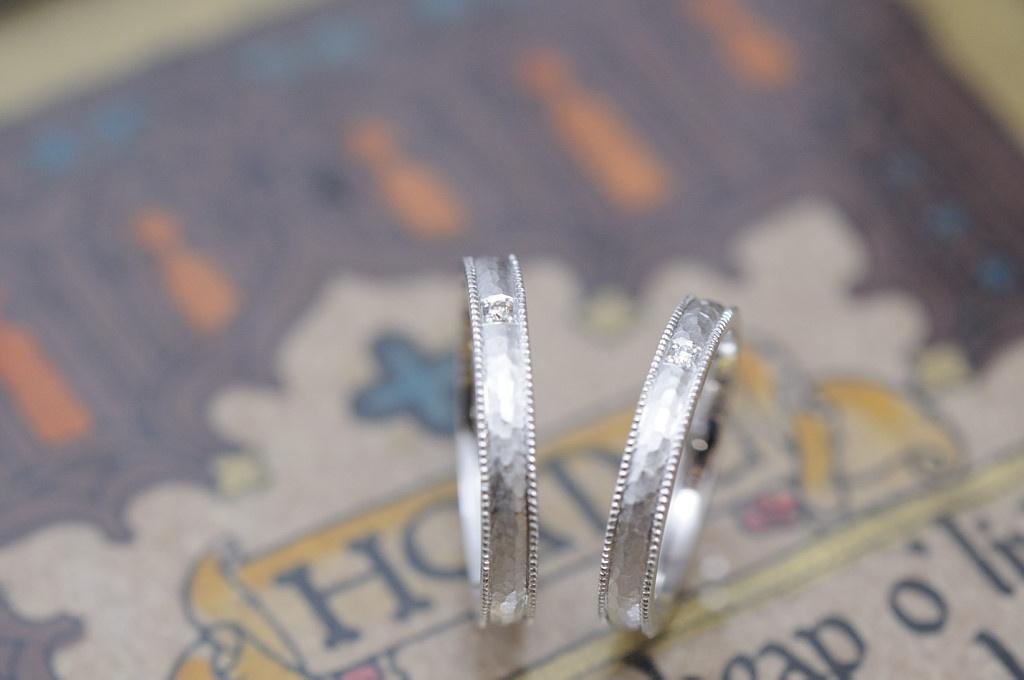 ミルと鎚目のオーダーメイド結婚指輪