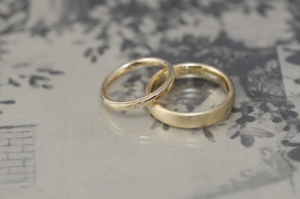 クラシカルシンプルなオーダーメイド結婚指輪