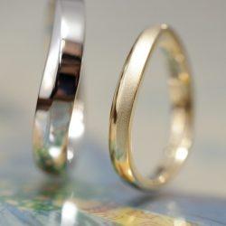 ウェーブのオーダーメイド結婚指輪