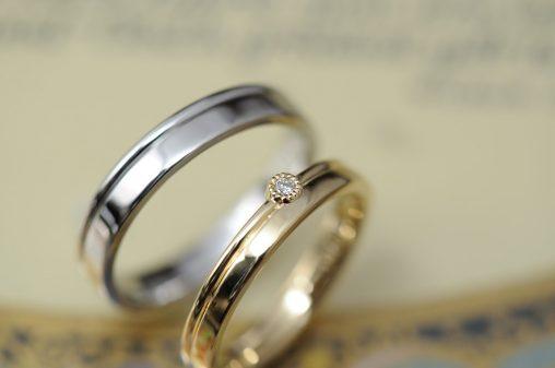 ミル留2連風のオーダーメイド結婚指輪