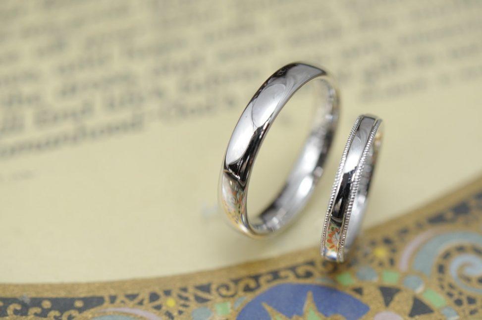 シンプルアンドスタンダードのオーダーメイド結婚指輪