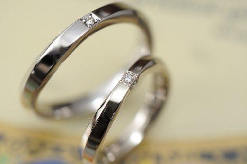 シャンパンウェーブのオーダーメイド結婚指輪